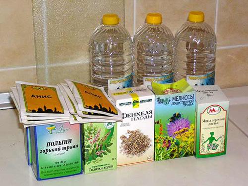 ингредиенты для абсента