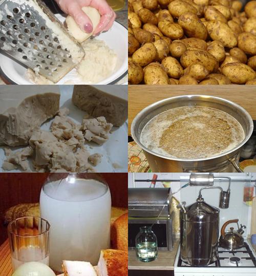 пошаговый рецепт приготовления картофельного самогона