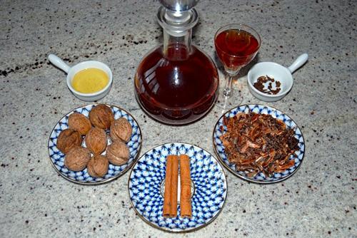 Настойка на перегородках грецкого ореха с водкой, самогоном