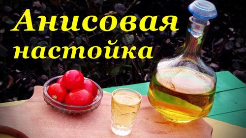 рецепт анисовой настойки