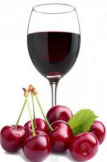вишня и вино