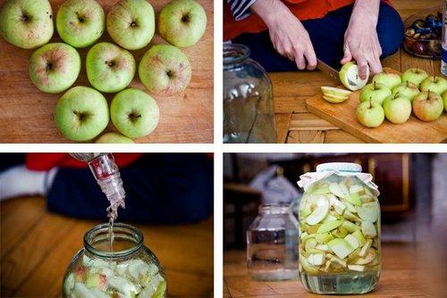 классическая наливка из яблок
