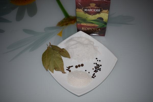 ингредиенты для засолки рыбы