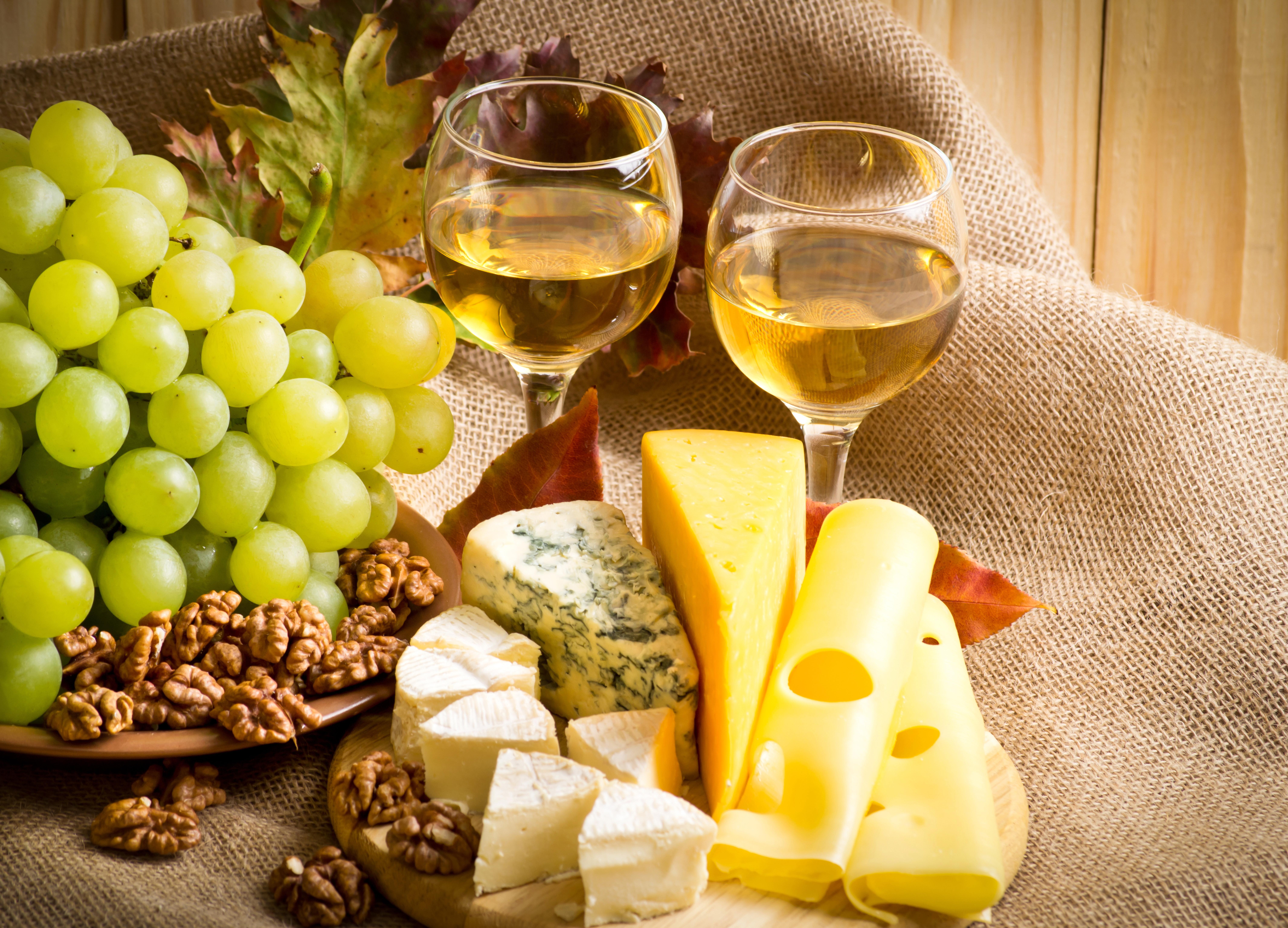 Открытка вино и сыр, окончанием